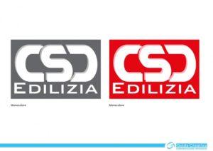 Marchio di CSD Edilizia S.r.l. - Sviluppato in monocolore e retinatura