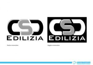 Marchio di CSD Edilizia S.r.l. - Sviluppato in positivo e negativo monocolore
